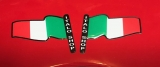 sticker set wheel trim tricolore  (full set)